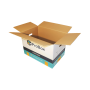 Large double thickness cardboard reinforced